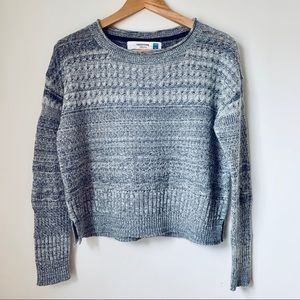Anthropologie Cropped Knit Pullover by Sparrow